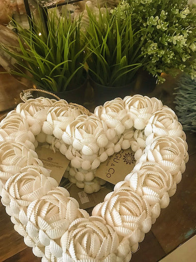 Heart Shaped Shell Decor - Canggu & Co