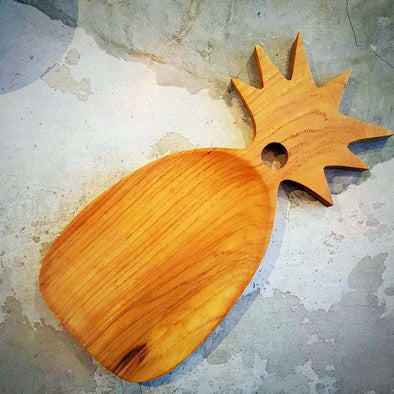 Tropical Style Pineapple Shaped Teak Serving Platter - Canggu & Co