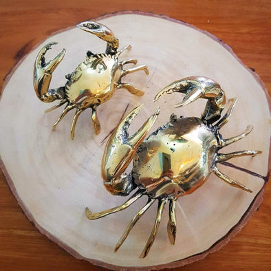 Brass Figurine Crabs - Canggu & Co