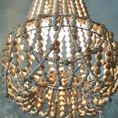 Pendant Shaped Beaded Ceiling Lamp Shade