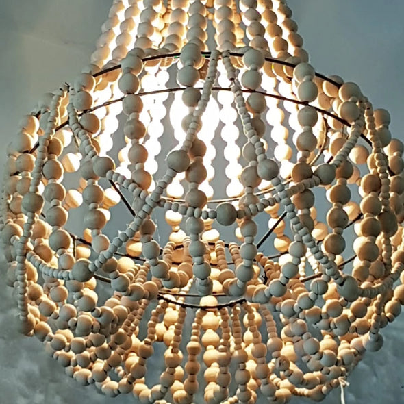 Pendant Shaped Beaded Ceiling Lamp Shade - Canggu & Co