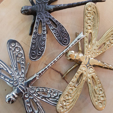 Brass Figurine Dragonflies - Canggu & Co