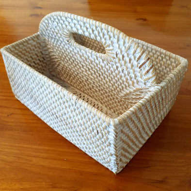 Rattan Table Cutlery Or Condiments Holder