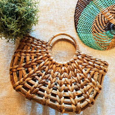 Natural Woven Water Hyacinth Bag Set