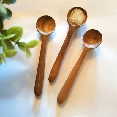 Wooden Round Head Tea Spoons