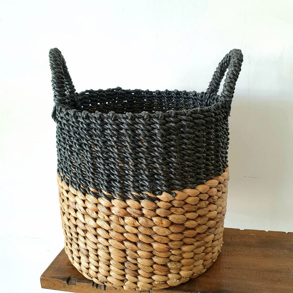 Mixed Natural Water Hyacinth & Raffia Basket Sets
