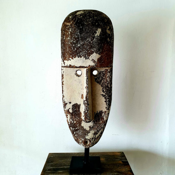 Antique Tribal Wooden Face Decor
