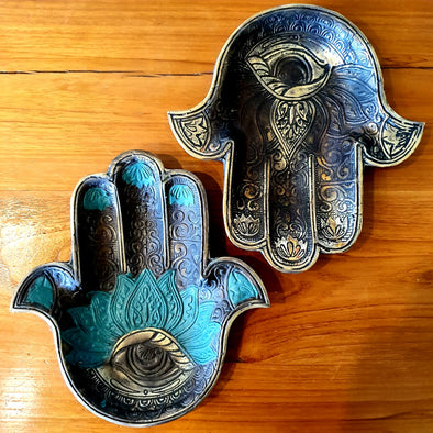 Large Hand of Fatima Brass Decor