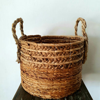 Natural Woven Banana Leaf Basket Set