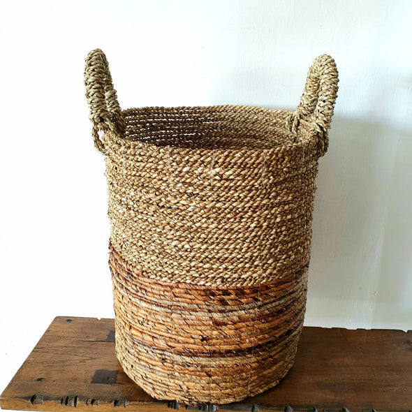 Banana Leaf & Straw Grass Basket Set