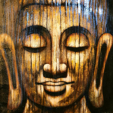 Antique Style Buddha Head Painting
