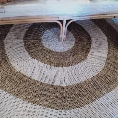 Large Round natural Straw Grass And Raffia Floor Mats