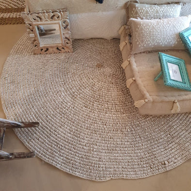 Large Round Woven Natural Straw Grass Floor Mats