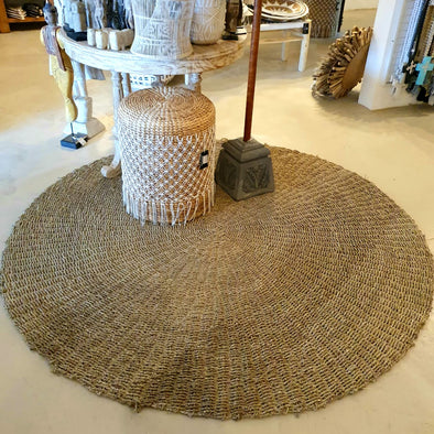Large Round Knitted Natural Straw Grass Floor Mats