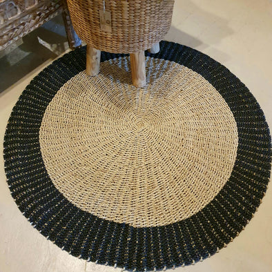 Large Round Woven Straw Grass & Raffia Floor Mats