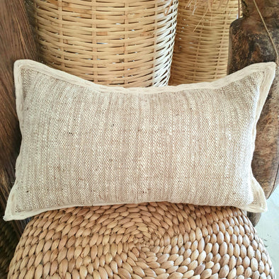 Natural Straw Grass and Calico Cushions