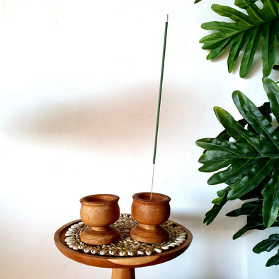 Hand Carved Wooden Boho Style Incense Holders