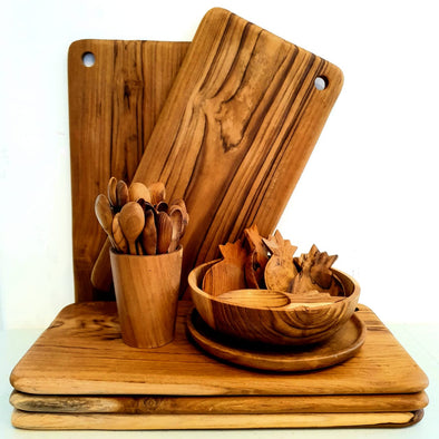 Rectangular Shaped Teak Cutting Or Serving Board