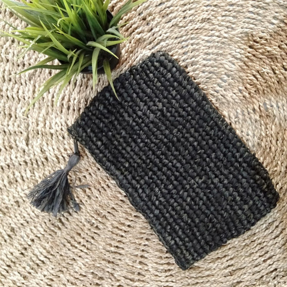 Large Woven Straw Grass Or Raffia Clutches