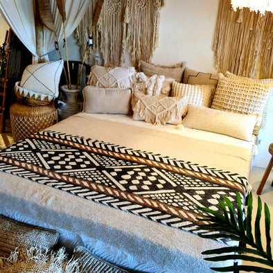 Tribal Pattern Bed Runner