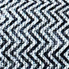 Black Zigzag Pattern Motif Raw Cotton Throw with Tassels