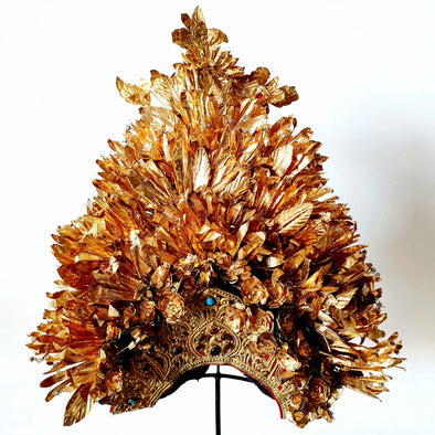 Balinese Golden Wedding Headdress