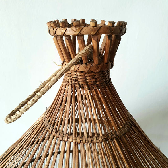 Fish Basket Style Bamboo Pendant Ceiling Lamp