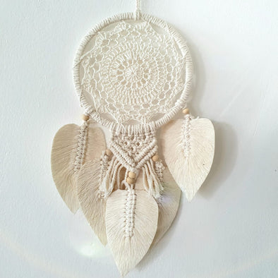 Leaf & Macrame Dream Catcher