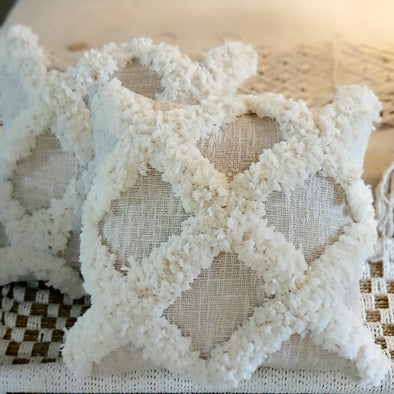 Exotic Moroccan Style Fluffy Macrame Cushion