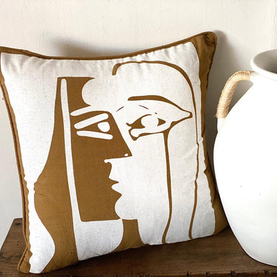 Boho Face Silhouette Cushion