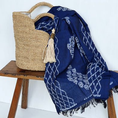 Traditional Blue Sundanese Throw
