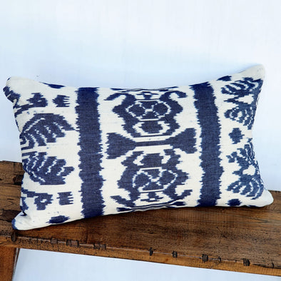 Traditional Sundanese Motif Blue & White Cushions