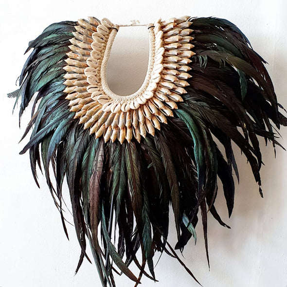 Long Feather And Shell Islander Necklace