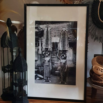 Antique Balinese Women Ceremonial Picture