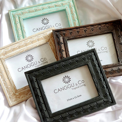 Carved Ethnic Pattern Wooden Photo Frames