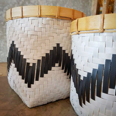 Black & White Synthetic Basket Sets - Canggu & Co