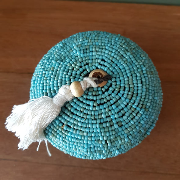 Mini Round Bead & Bamboo Boxes With Tassel - Canggu & Co