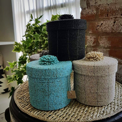 Round Beaded Box Sets - Canggu & Co
