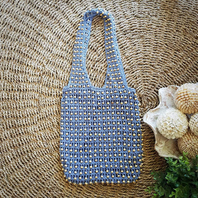 Multi Color Woven Cotton & Bead Macrame Sling Bags - Canggu & Co
