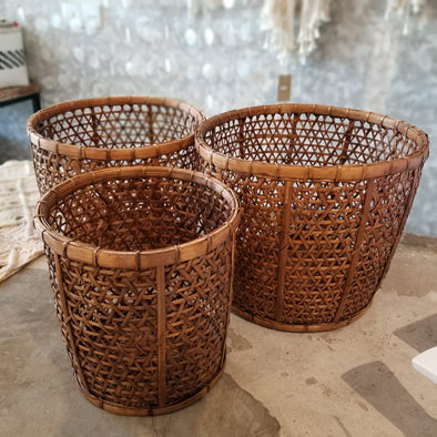 Woven Bamboo Basket Set - Canggu & Co