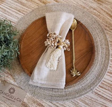 Gold, Silver & Natural Beaded Placemats - Canggu & Co