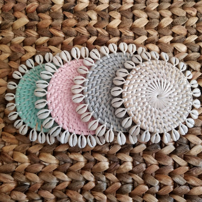 Small Rattan Drink Coasters - Canggu & Co