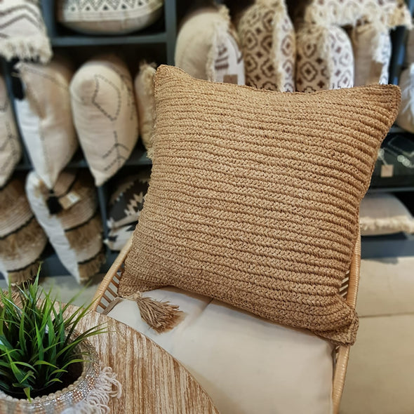Natural Woven Water Hyacinth Cushion Set - Canggu & Co