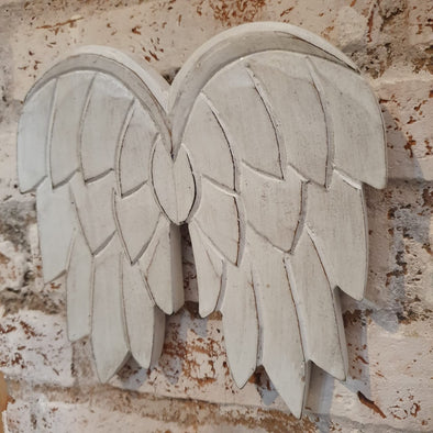 Antique Wooden Angel Wings Wall Hanging