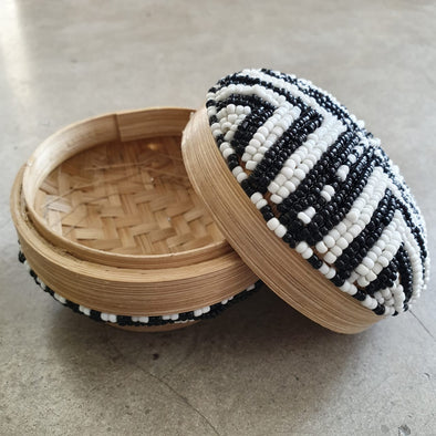 Mini Round Bead & Bamboo Boxes