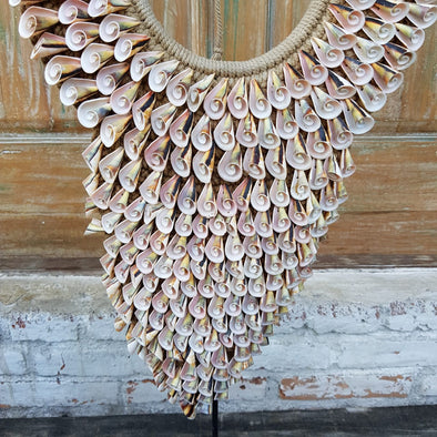Spiral Shell Pendant Necklace Style Decor With Stand - Canggu & Co