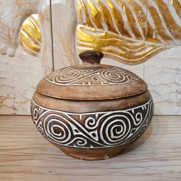 Carved Tribal Wooden Bowl - Canggu & Co