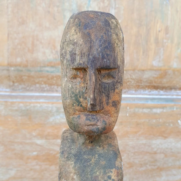 Tribal Carved Wooden Man On Stand - Canggu & Co