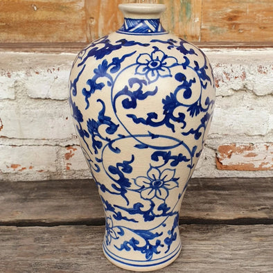 Blue Ceramic Decorative Vase - Canggu & Co