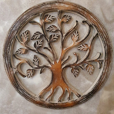 Tree Of Life Wooden Wall Hanging Decor - Canggu & Co